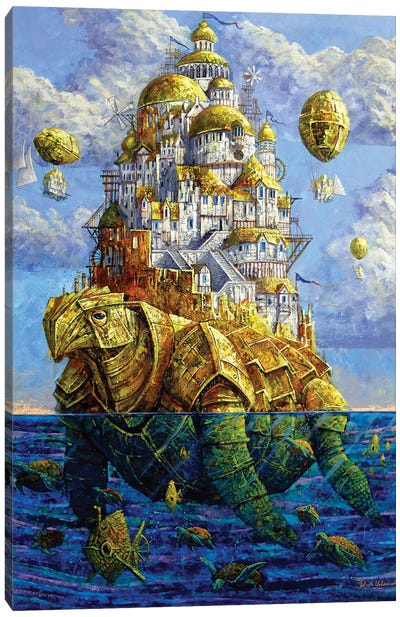 Golden Zaratan Canvas Art Print