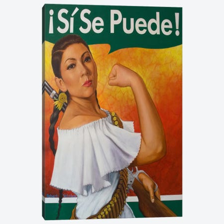 Rosita (Si Se Puede!) Canvas Print #RVA1} by Robert Valadez Canvas Wall Art