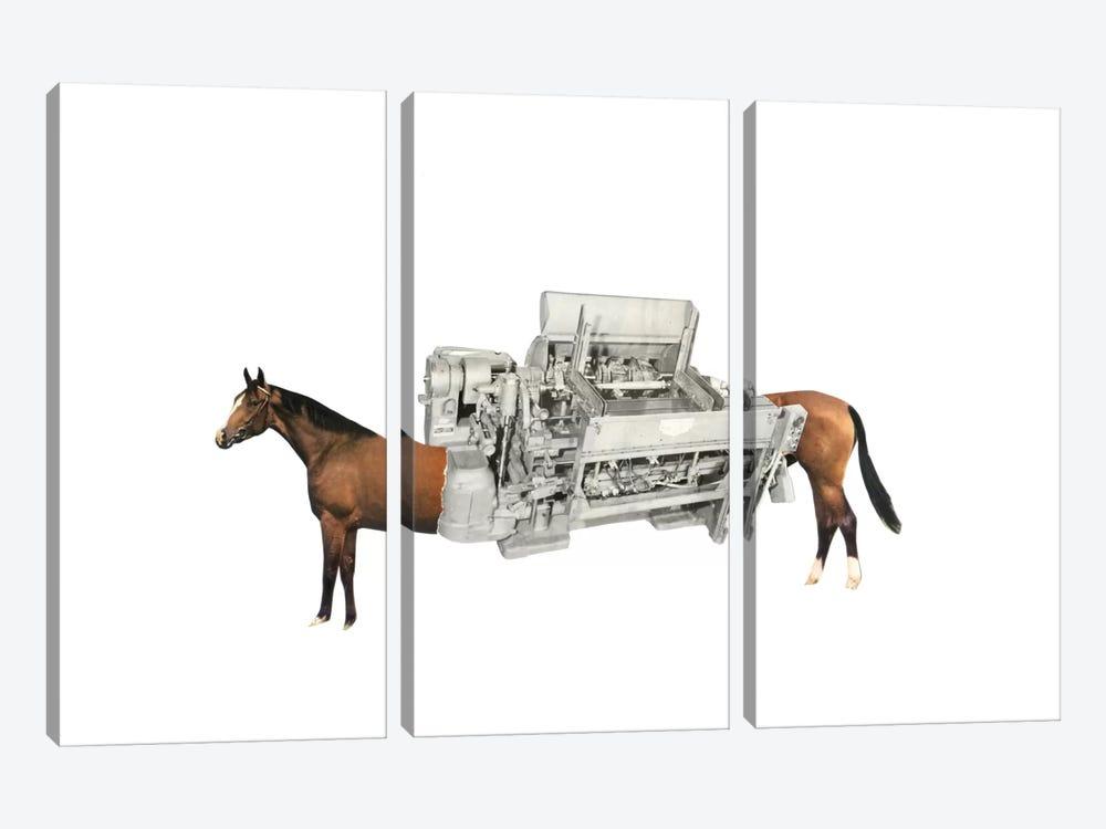 Horsepower by Richard Vergez 3-piece Canvas Artwork