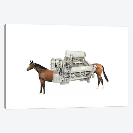 Horsepower 3-Piece Canvas #RVE21} by Richard Vergez Canvas Art Print