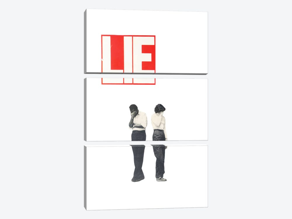 Lie by Richard Vergez 3-piece Canvas Artwork