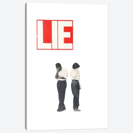 Lie Canvas Print #RVE23} by Richard Vergez Canvas Art Print