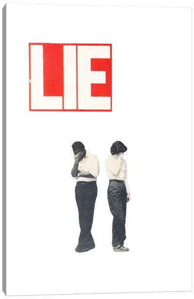 Lie Canvas Art Print