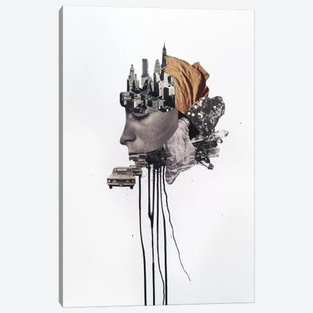 Metropolis Canvas Print #RVE25} by Richard Vergez Canvas Artwork