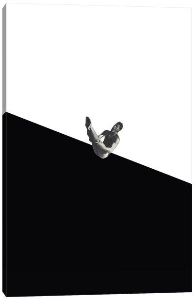 Diver Black Canvas Art Print