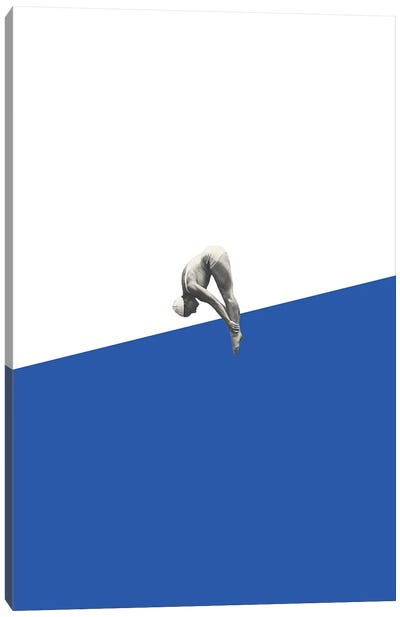 Diver Blue Canvas Art Print