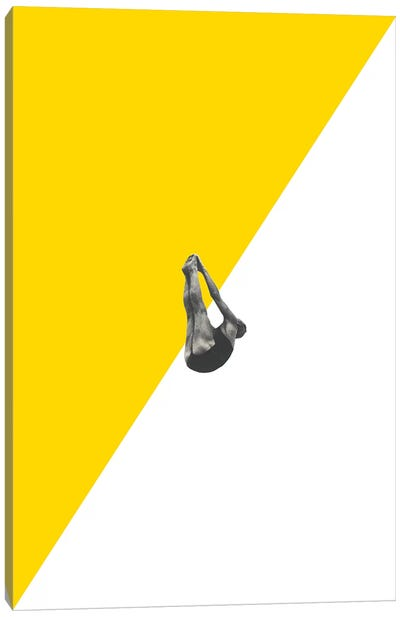 Diver Yellow Canvas Art Print