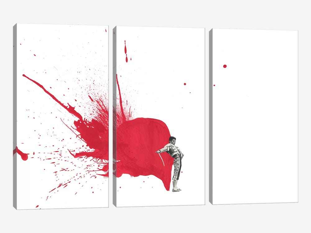 Matador III by Richard Vergez 3-piece Canvas Artwork