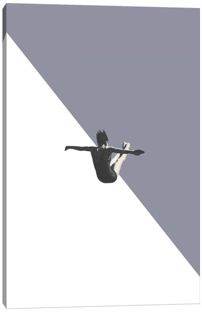 Diver (Grey) Canvas Art Print