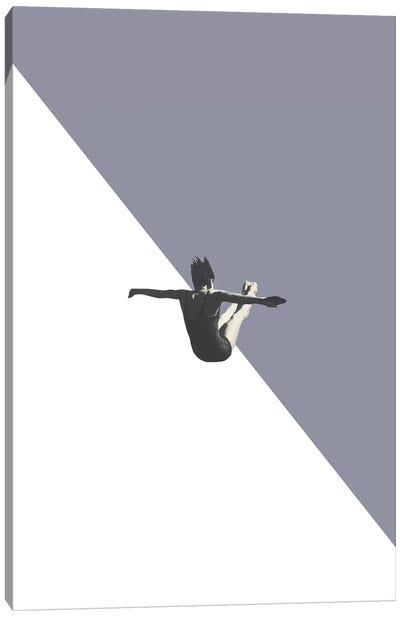 Diver (Grey) Canvas Art Print
