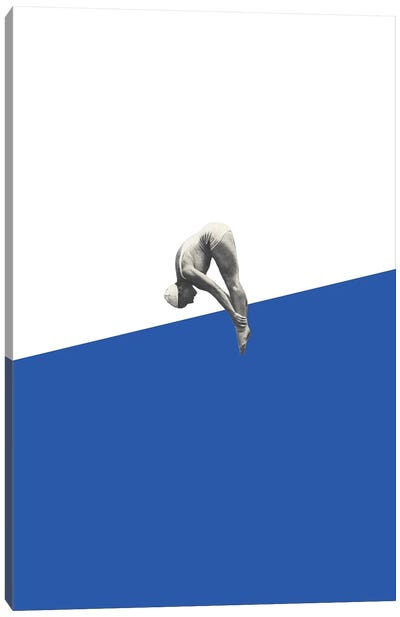 Diver (Blue) Canvas Art Print