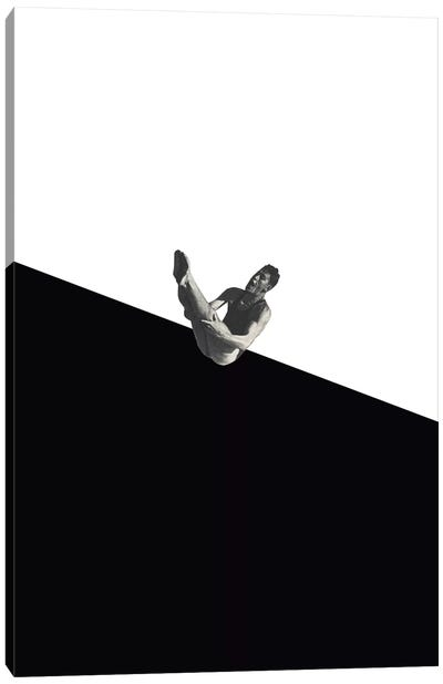 Diver (Black) Canvas Art Print