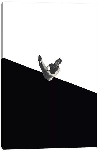Diver (Black) Canvas Art Print