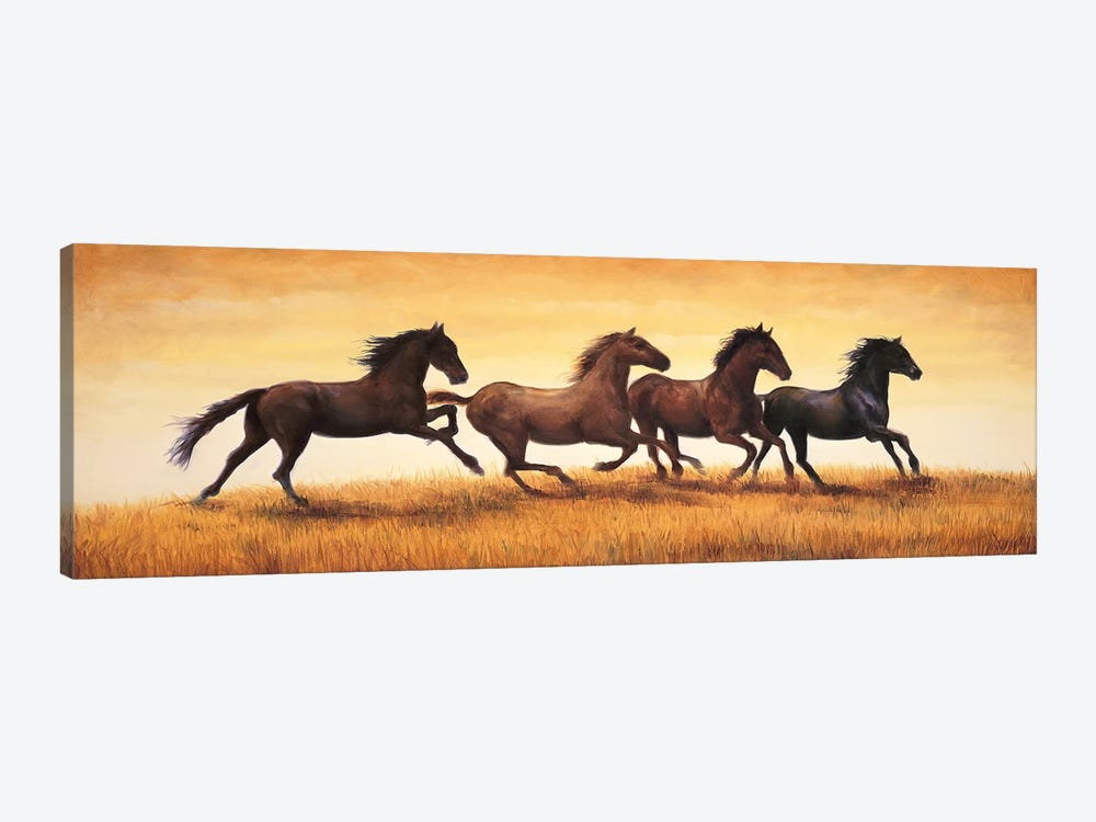 Stallions at Sunset by Ricardo Vargas 1-piece Canvas Wall Art