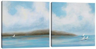 Sailing Day Diptych Canvas Art Print