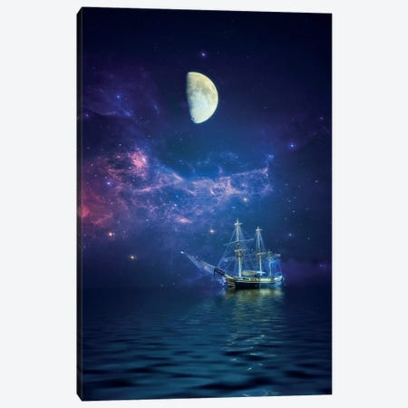 By Way Of The Moon And Stars Canvas Print #RVR10} by John Rivera Art Print