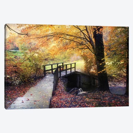 Foot Bridge Canvas Print #RVR13} by John Rivera Canvas Art Print