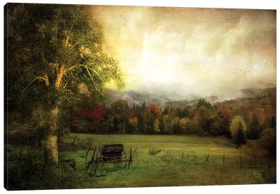 Abandoned Wagon Canvas Print #RVR1