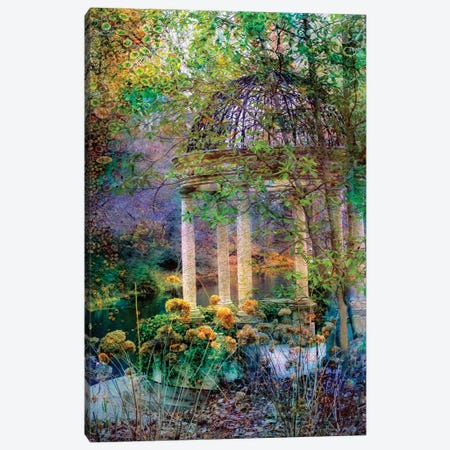 The Gazebo Canvas Print #RVR28} by John Rivera Canvas Art