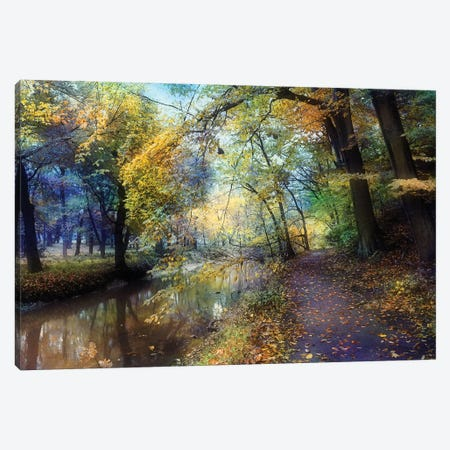 Autumn Walk Canvas Print #RVR6} by John Rivera Canvas Print