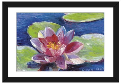 Lily Pad Flowers Framed Art Print