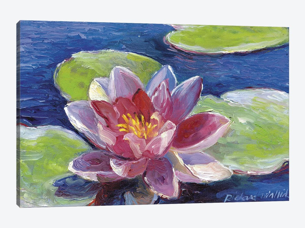 Lily Pad Flowers 1-piece Canvas Wall Art