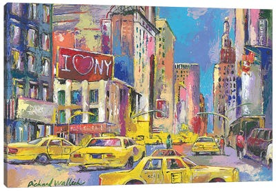 New York Taxi Canvas Art Print