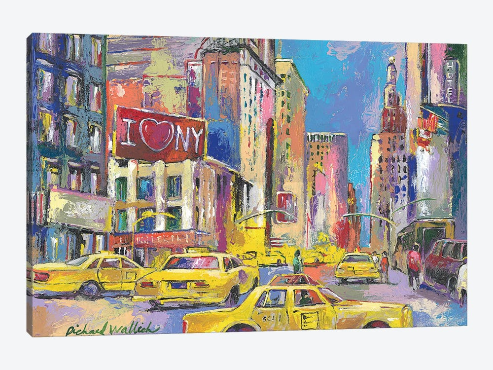 New York Taxi 1-piece Canvas Wall Art