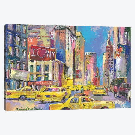 New York Taxi Canvas Print #RWA122} by Richard Wallich Art Print