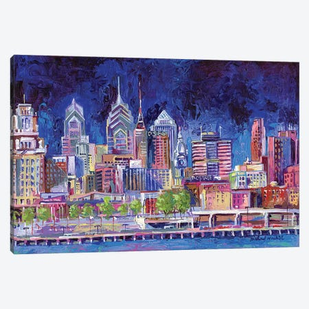 Philadelphia 3-Piece Canvas #RWA134} by Richard Wallich Art Print