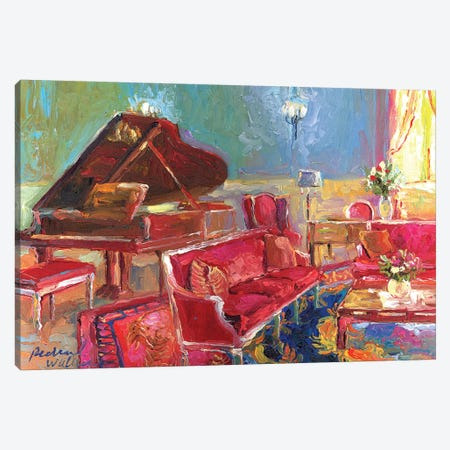 Piano Bar II Canvas Print #RWA137} by Richard Wallich Art Print
