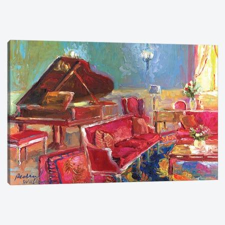 Piano Bar II Canvas Print #RWA137} by Richard Wallich Art Print