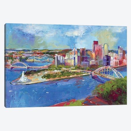 Pittsburgh Canvas Print #RWA139} by Richard Wallich Canvas Artwork