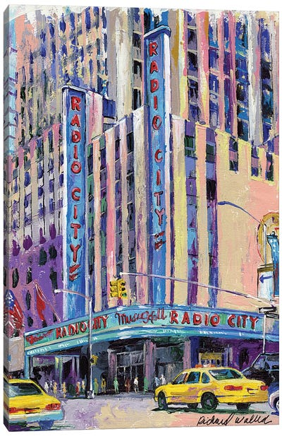 Radio City Music Hall Canvas Print #RWA141