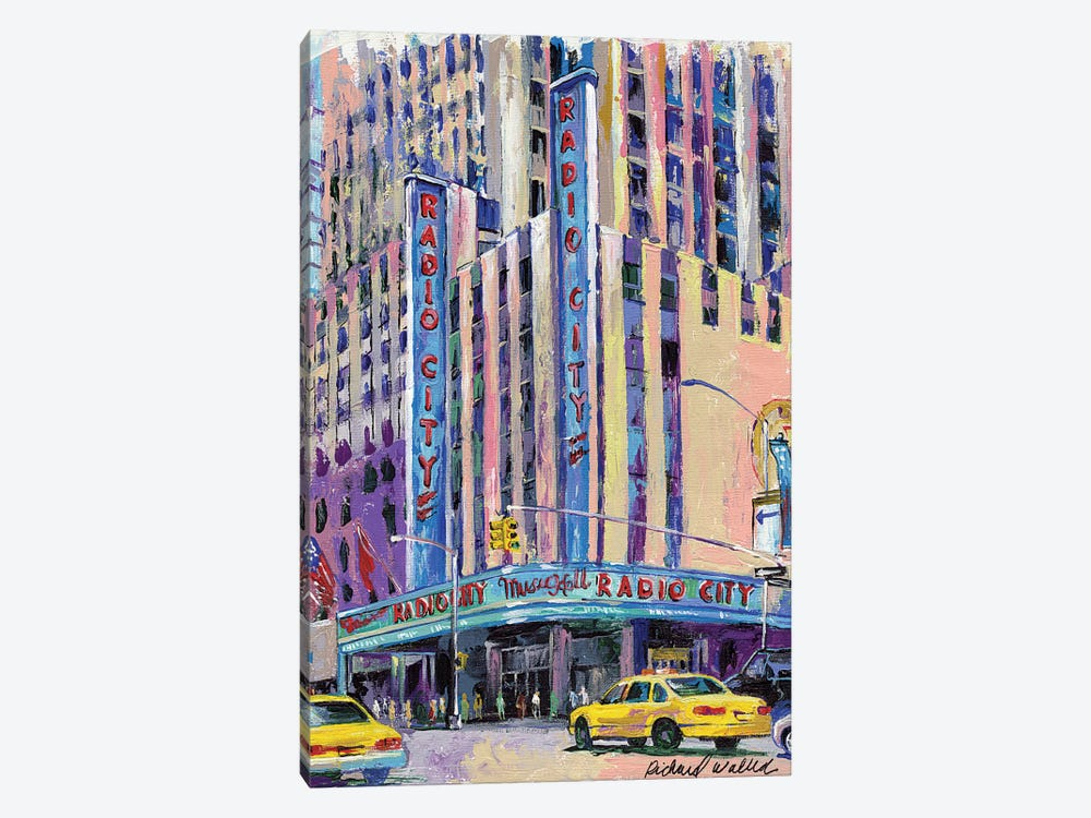Radio City Music Hall by Richard Wallich 1-piece Canvas Art Print