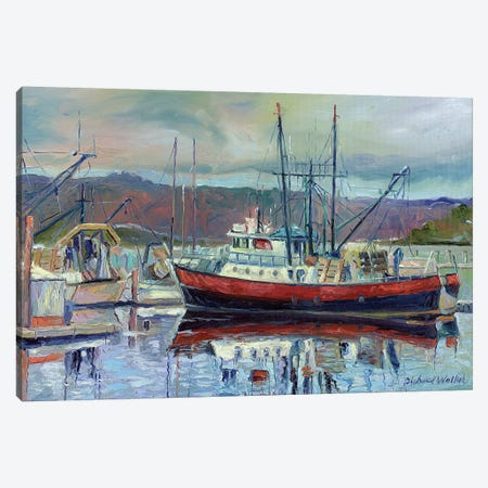 Red Boat Canvas Print #RWA143} by Richard Wallich Canvas Art Print