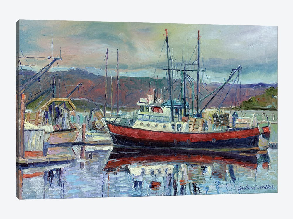 Red Boat by Richard Wallich 1-piece Canvas Print