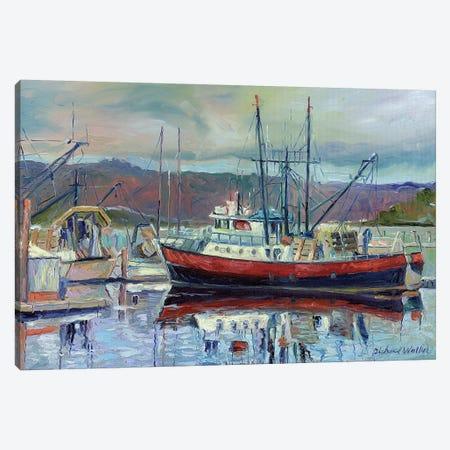 Red Boat Canvas Print #RWA143} by Richard Wallich Canvas Art Print