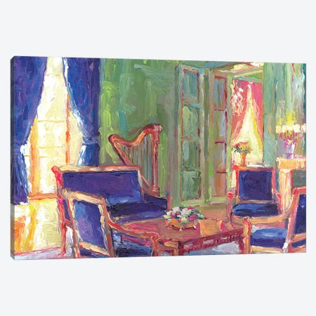 Salon Canvas Print #RWA159} by Richard Wallich Canvas Wall Art