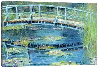 Botanical Garden Lilies I Canvas Art Print