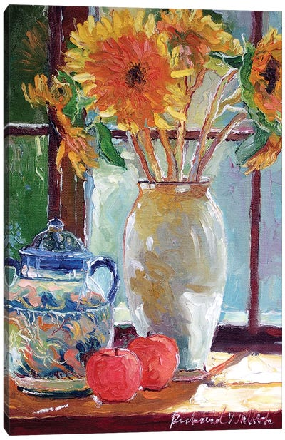 Sunflowers In A Vase Canvas Art Print