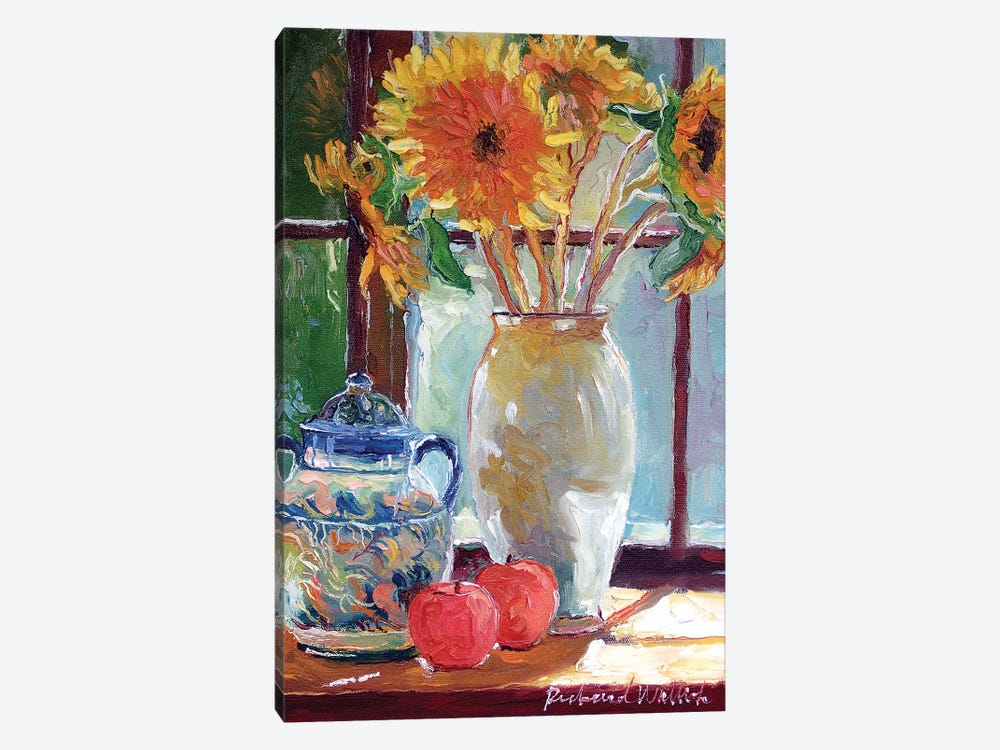 Sunflowers In A Vase 1-piece Canvas Art Print