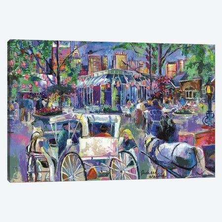 Tavern On The Green II Canvas Print #RWA178} by Richard Wallich Canvas Artwork