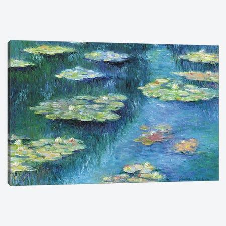 Botanical Garden Lilies II Canvas Print #RWA17} by Richard Wallich Canvas Wall Art
