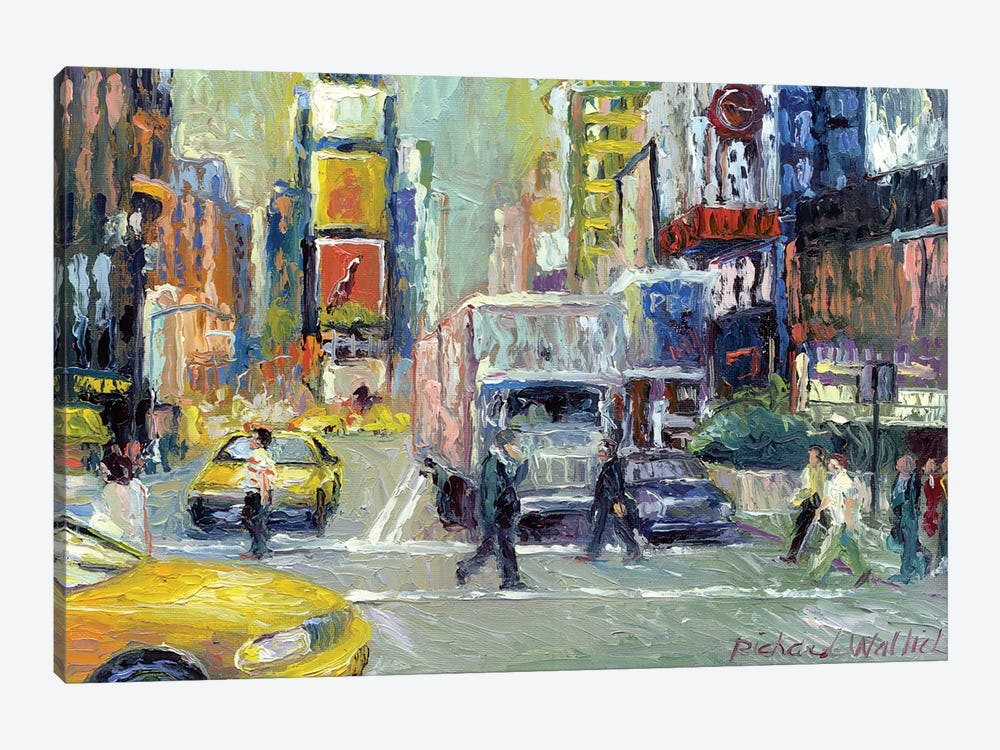Times Square by Richard Wallich 1-piece Canvas Print
