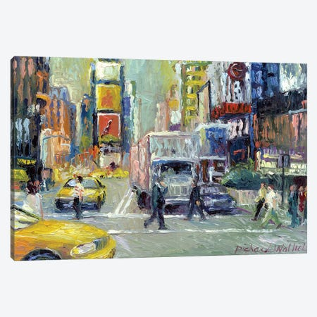 Times Square Canvas Print #RWA181} by Richard Wallich Art Print