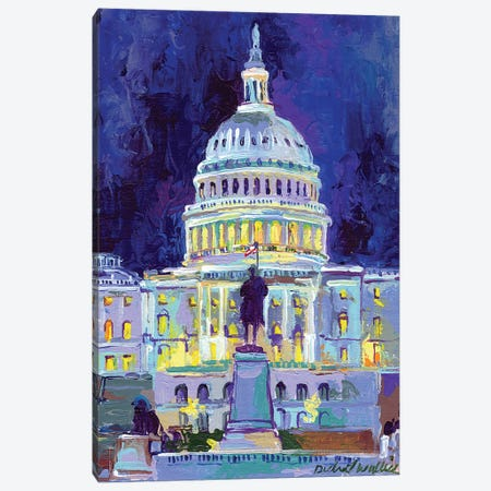 Washington, D.C. 3-Piece Canvas #RWA189} by Richard Wallich Art Print