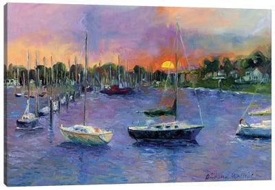 Wickford At Dusk Canvas Art Print