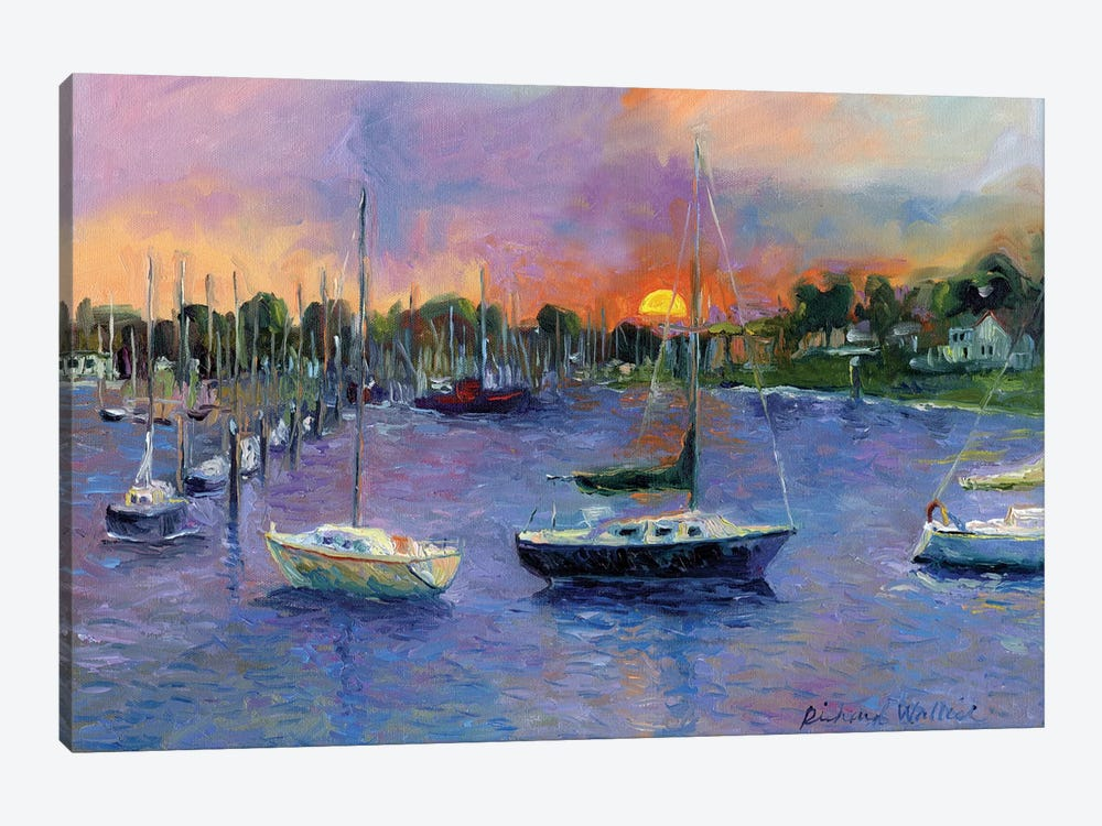 Wickford At Dusk by Richard Wallich 1-piece Canvas Art