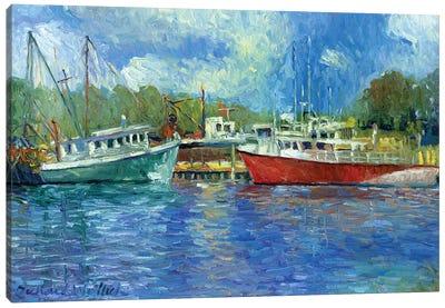 Wickford Boats Canvas Print #RWA194